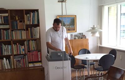 Michael Jensen – Certificeret Climates Decon-X operatør ved behandling af Marie Carlsens bolig